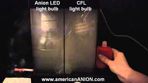 Led Versus Fluorescent Light Bulbs by Bluen Anion Led Vs Cfl Light Bulb Smoke Test Youtube