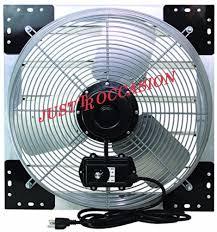shutter exhaust fan 24 exhaust fan garage 24 wall mount intake industrial ventilator attic