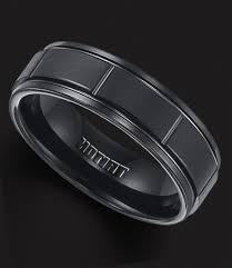 Mens Wedding Rings Black by Wedding Rings Ideas Two Silver Lines Titanium Men Black Wedding