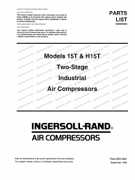 compressor ingersoll rand parts list 15t valve gas compressor