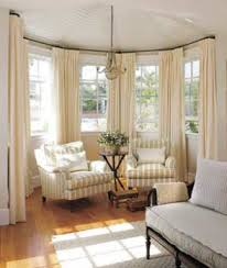 Curved Curtain Rods For Bay Window We Need These For Our Dining - Dining room with bay window