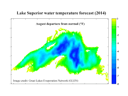Map Of Lake Superior Lake Superior Water Temperature Forecast Mynorth Com
