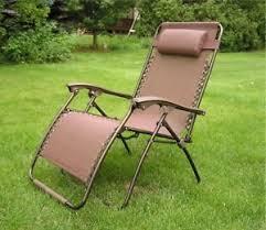 delux extra wide zero gravity lawn chair brown patio recliner ebay
