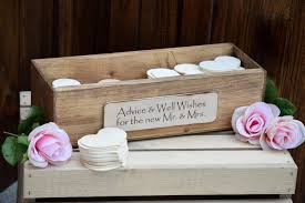 Wedding Wishing Box Rustic Wedding Advice Box Rustic Guest Book Guest Notes