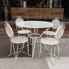 Wrought Iron Patio Table Set by Vintage Mid Century Wrought Iron Garden Set Cityfoundry