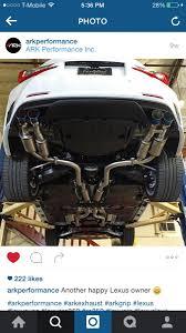 lexus rc exhaust system ark grip full exhaust lexus rc350 u0026 rcf forum