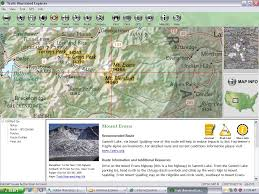 Map Of Colorado 14ers by Colorado 14ers Trails Illustrated Explorer National Geograhic
