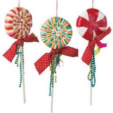 peppermint ornaments by the top collection