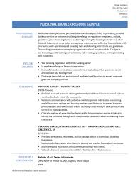 sample of a resume summary personal banker resume samples templates tips onlineresume personal banker resume