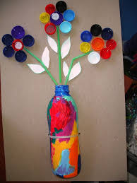 Vase Made From Plastic Bottle Recycled Flower Vase U2013 Craftbnb