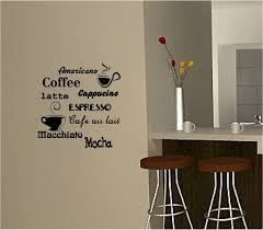 wall art decor coffee vinyl art for kitchen walls decal composite