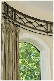 living room outstanding curved curtain rod for bay window curtains