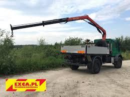 mercedes truck 4x4 mercedes benz unimog u 4000 palfinger pk6500a hds żuraw crane