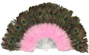 large feather fans peacock feather fan pink obba