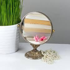 Gold Vanity Mirror Bathroom Outstanding Vintage Vanity Mirror On Stand Shop Gold
