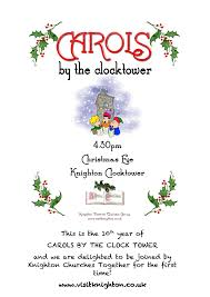 carols by the clock tower visit knighton