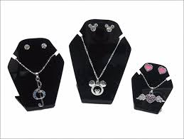 color necklace display images Set of three small tabletop necklace holder and jewelry display jpg