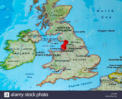 A Map Of Europe Liverpool U K Pinned On A Map Of Europe Stock Photo Royalty