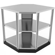newage products stainless steel classic 90 degree corner 34x36x34