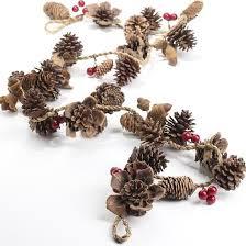 pinecone garland pinecone and berry garland berry garland winter holidays