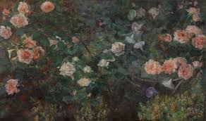 old fashioned gardens impressionism american artists on canvas