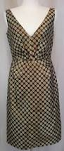 j crew collection black gold polka dot women u0027s dress cocktail 0