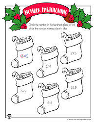 christmas stockings place value worksheet woo jr kids activities