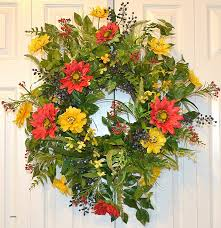 decorative wreaths for the home decorative wall wreaths elegant sunflower wreath home living home