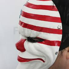 The Heist Flag Game Payday 2 The Heist Dallas Mask Cosplay Props Halloween Mask