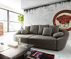 sofa mit bettkasten und schlaffunktion sofa 305x116 cm grau mit schlaffunktion und bettkasten