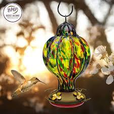 amazon com best home products blown glass hummingbird feeder