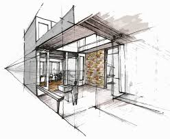 hand rendering interiors and perspective for interior designers