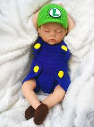 infant boy costumes green plumber baby photo prop baby crochet baby boy