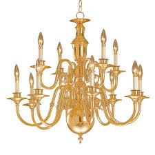 Brass Chandelier Shop Weinstock Lighting Georgetown 12 Light Polished Brass