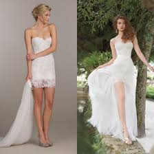 distributors of discount short lace wedding dress removable skirt
