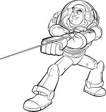buzz lightyear awesome laser toy story coloring