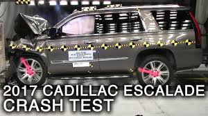 cadillac jeep 2017 white 2017 cadillac escalade frontal crash test youtube