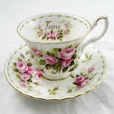 royal albert tea cup and saucer flower of the month june roses