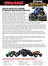monster jam traxxas trucks monster truck destruction tour gets traxxas as a new sponsor