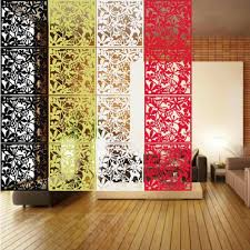 yazi 1pc butterfly flowers pattern hollow hanging screen partition