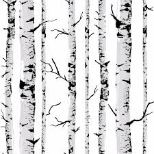 Wall Mural White Birch Trees Wallpaper Black Picture More Detailed Picture About Decorative