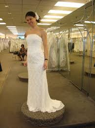 clean wedding dress david s bridal all lace beaded pearl strapless floor length clean