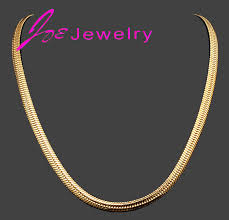 necklace gold chain design images 2015 fashion simple design 18k gold plated flat chain necklaces jpg