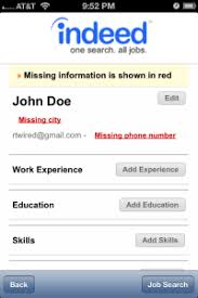 Upload Your Resume How To Use The Indeed Mobile App Tutorial U2014 Search Indeed Jobs