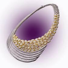diamond studded diamond studded necklace raj diamonds