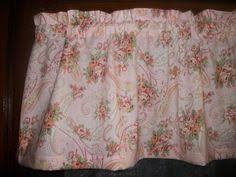 Shabby Chic Valance by Old Vintage Bicycles Bikes Flowers French Bedroom Fabric Curtain
