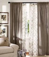 Natural Linen Curtain Fabric Terrific Drape Curtains For Living Room Using White Sheer