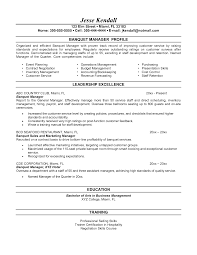 resume objective for restaurant