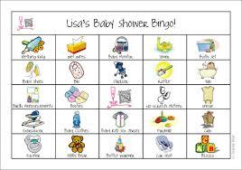 baby shower bingo registry bingo