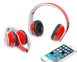 mobile headphone red color with stereo sound promotional ear